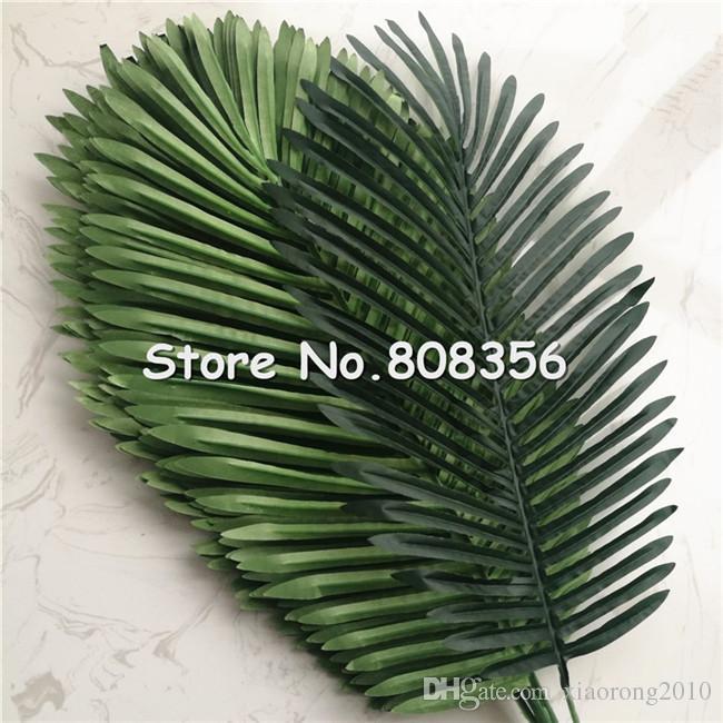 10 p искусственные листья имитационные растения поддельные пальмового дерева листьев зелени зеленый / белый / золотой / серебряный цвета для цветочной композиции аксессуар часть