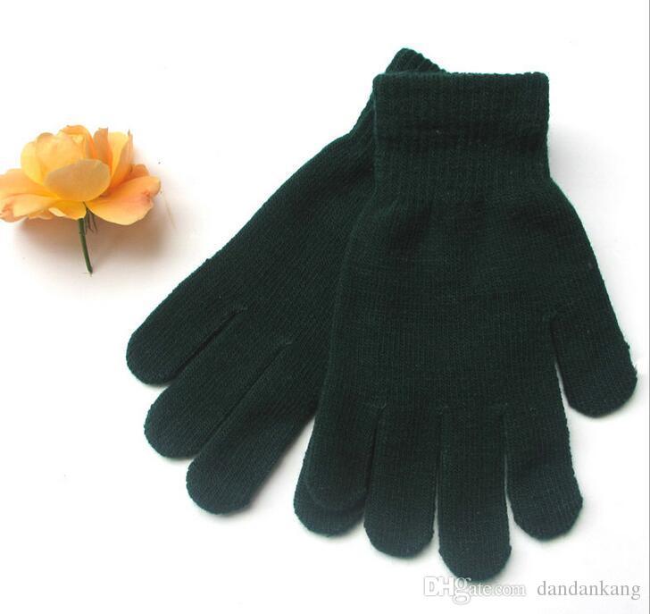 vélo extérieur Gant de cyclisme knited adulte Gants magiques cinq doigts Gants unisexe hiver chaud tricot gants de plein air gants chauds