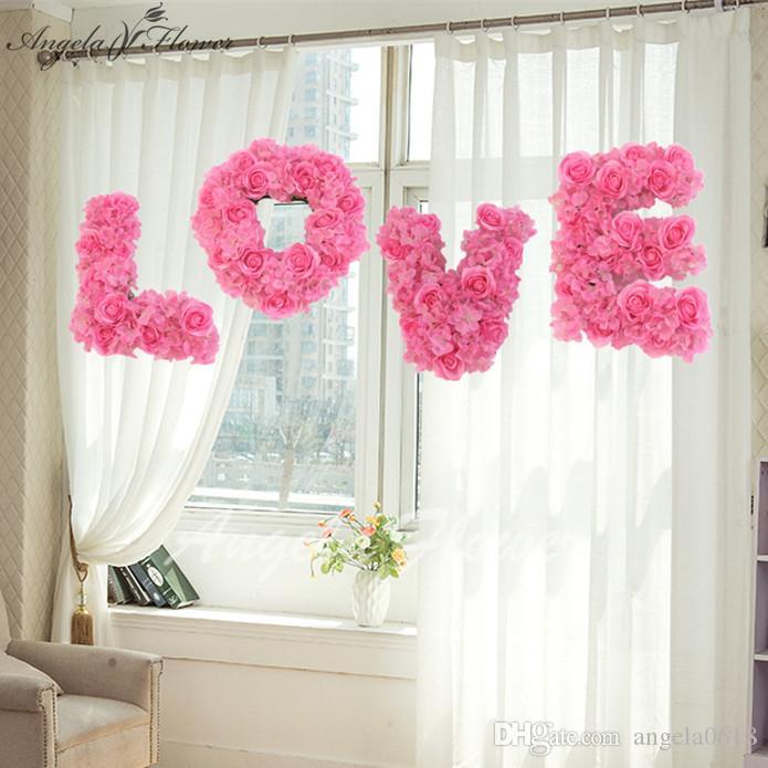 Grosshandel Love Hochzeit Einstellung Wand Dekoration Blume Store