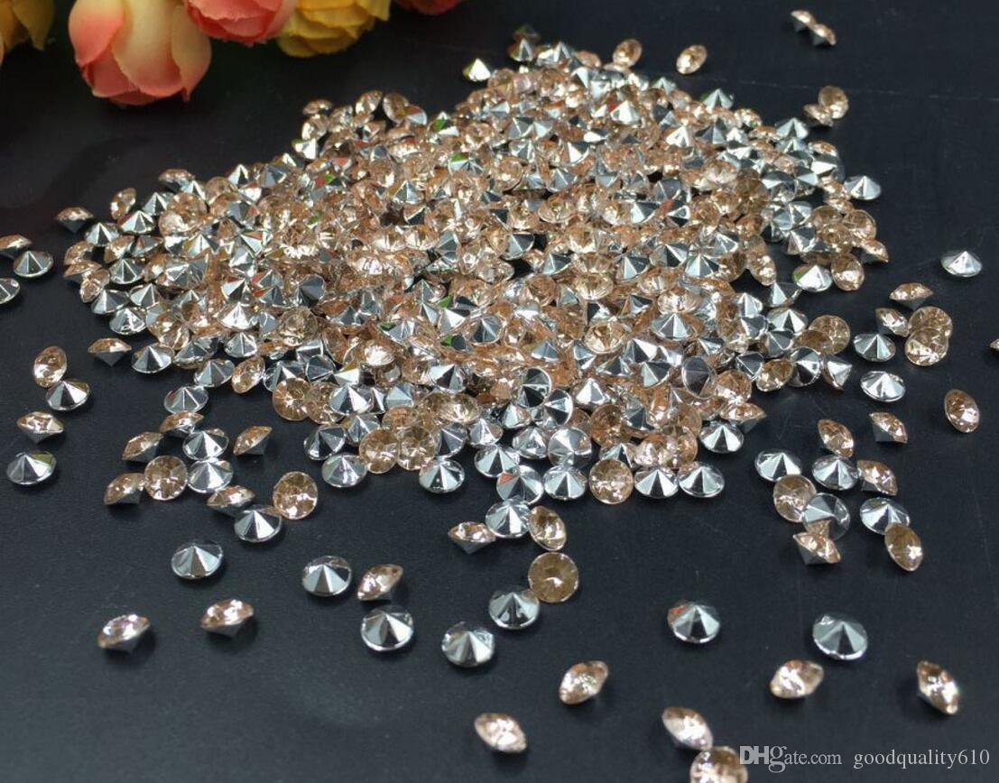 4mm Champagne-Acryldiamant-Confetti-Hochzeits-Party-Tabellen-Scatter-Kristalldekoration
