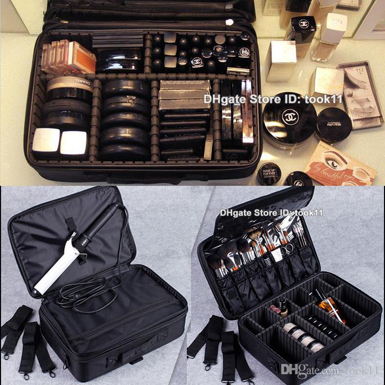 2019 Wholesale High Quality Professional Makeup Organizer Cosmetic Case  Travel Large Train Storage Handbag For Airbrush Makeup Bag Make Up Vanity  From ... f2816f39c119b
