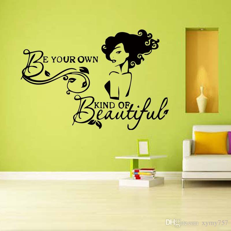 Beautiful Girls Bedroom Beauty Salon Quote Wall Removable Art ...