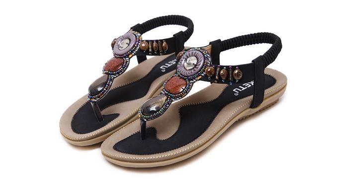 Frauen Sandalen Sommer Flache Sandalen Damen Böhmen Strand Flip Flops Schuhe Gladiator Damen Schuhe Sandalen Plattform Zapatos Mujer Alias