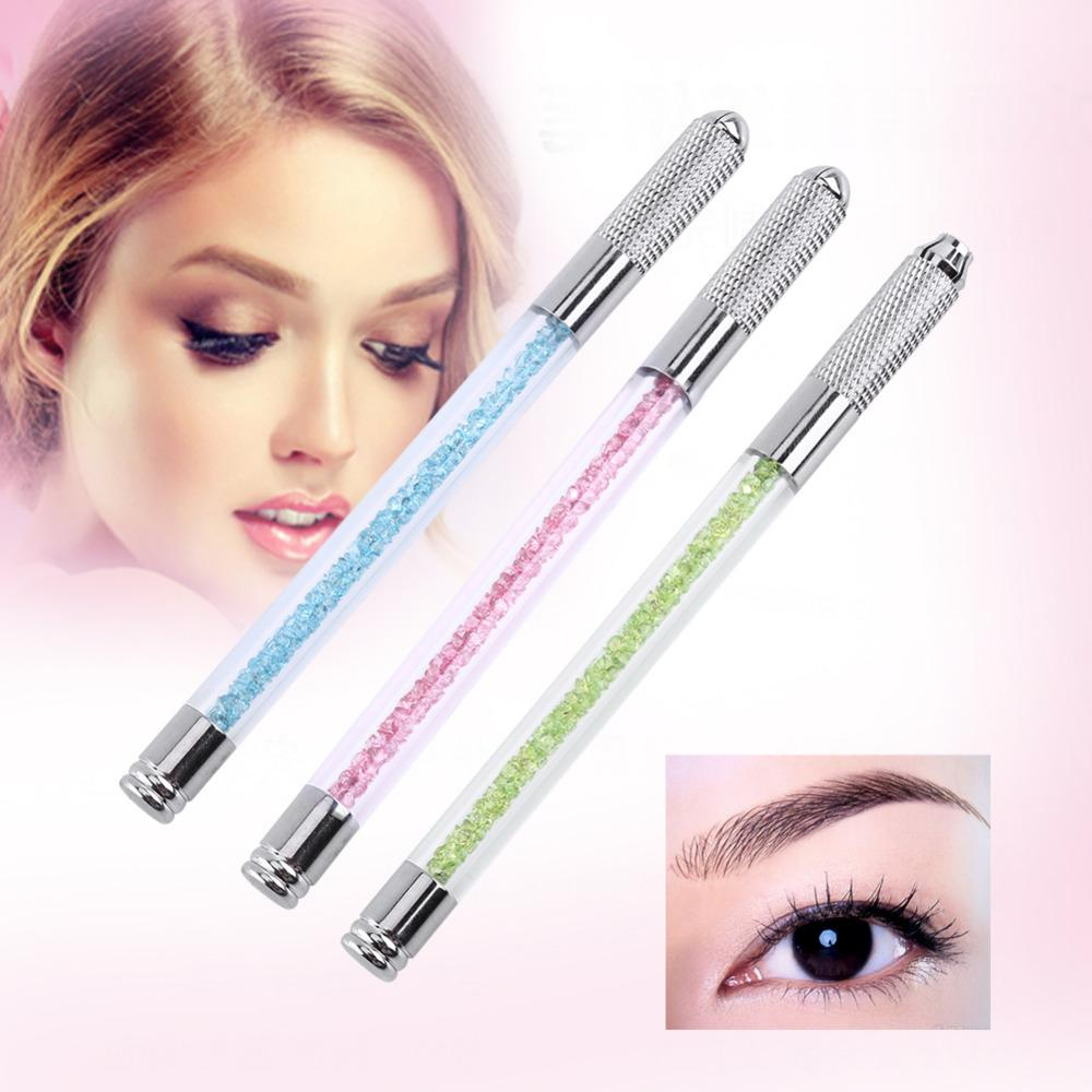 Wholesale Semipermanent Manual Dual Head Tebori Eyebrow Tattoo Pen