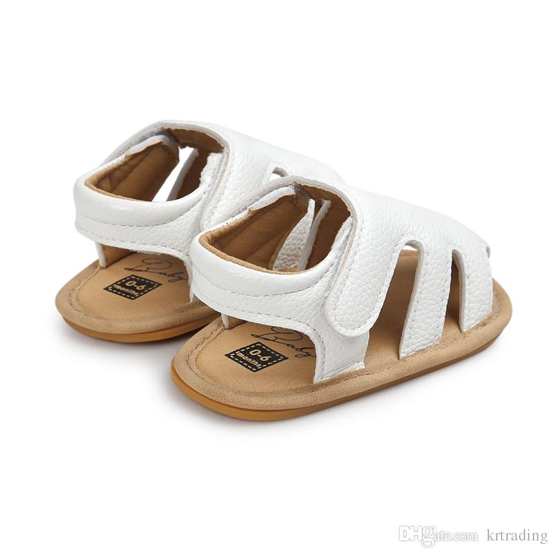 Baby soft pu toe-protection sandals infants boys girls summer first walkers toddlers outdoor shoes prewalkers for 0-1T