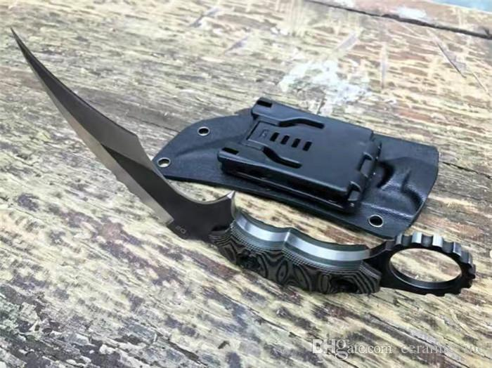 New The one claw karambit full tang D2 Blade knife A+++G10 handle cold steel 49ks design outdoor camping knives cutting tool