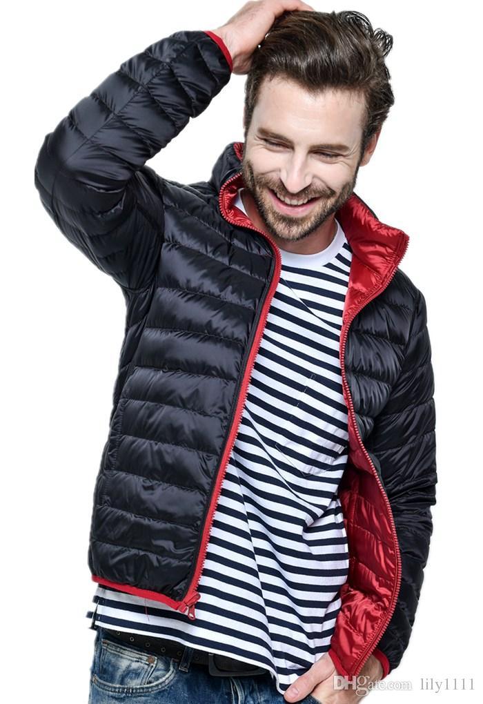 Shanghai Story New Ultra Light Duck Down Jacket Man Winter Double Side Reversible Parka Coats Plus Size