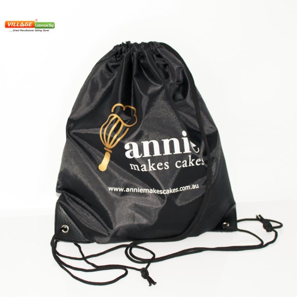 Custom Larger 210d Polyester Drawstring Bags Printing Logo ...