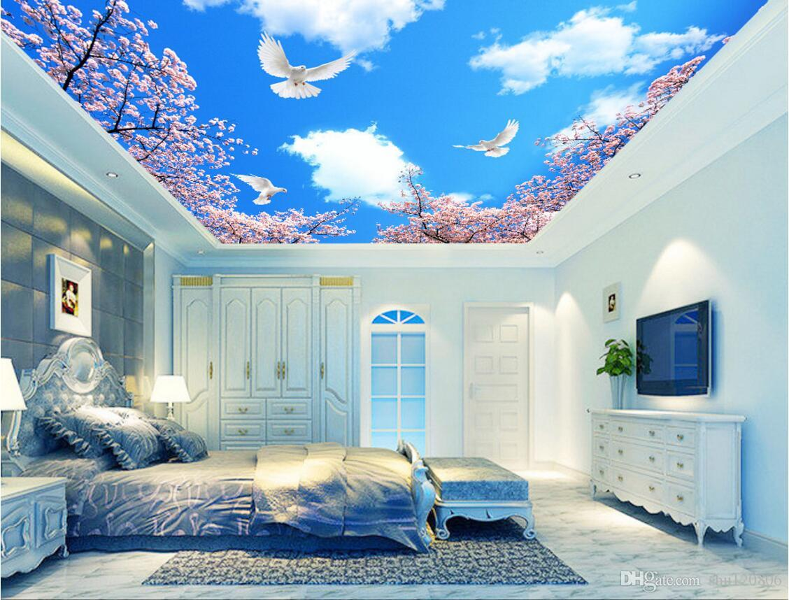 3d Wall Murals Wallpaper For Walls 3 D Ceiling Murals Wallpaper