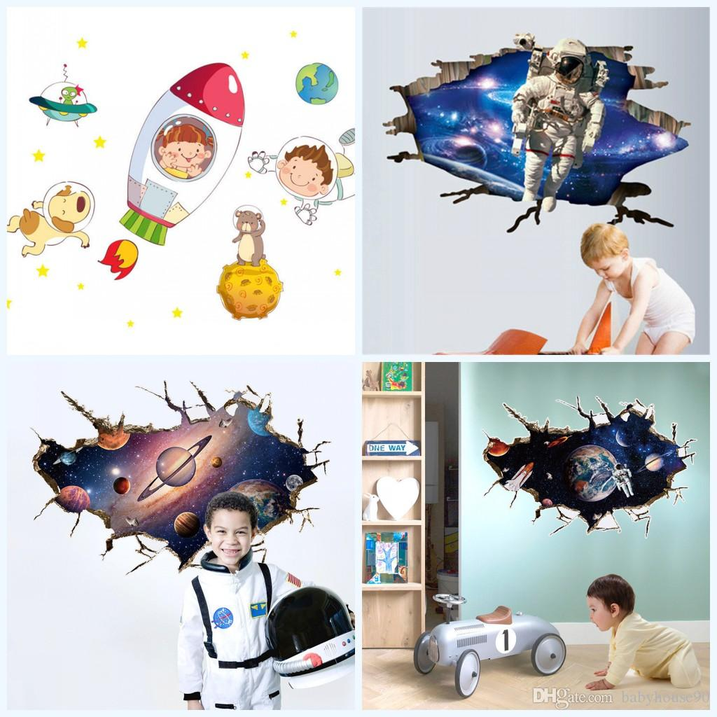 4 5hy4 new universe outer space wall decals sticker kindergarten see larger image