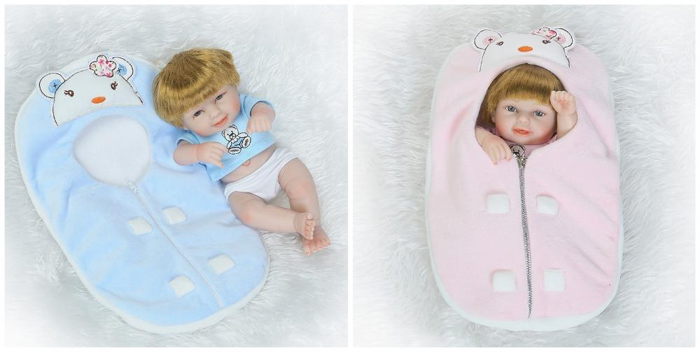 25cm Full Body Silicone Reborn Baby Dolls Toy Mini Lovely Newborn Twins  Girl And Boy Babies Bath Shower Toy Lovely Birthday Gift Car For 18 Inch  Doll ...