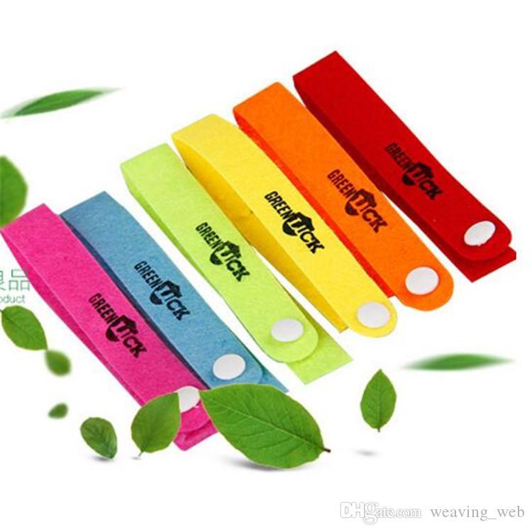 Été chaud bracelets anti-moustiques anti-moustiques bande bracelets anti-moustiques pur camping naturel randonnée adultes bébé anneau à la main