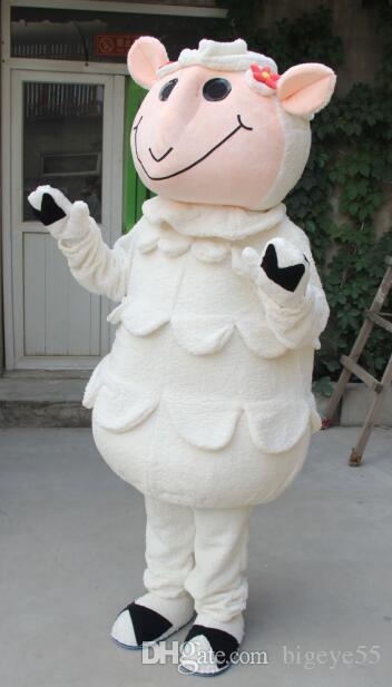 Heiße Qualität Real Pictures Australian Sheep Maskottchen Kostüm kostenloser Versand