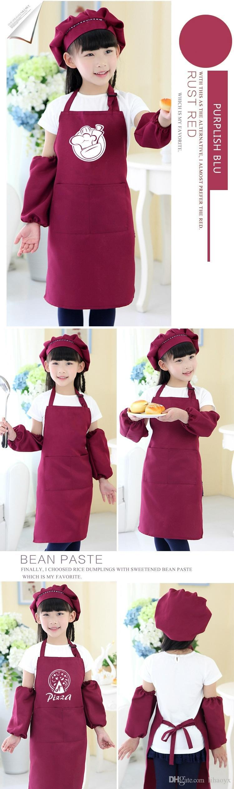 Hot sale free delivery children's apron pocket craft cooking baking art painting children's kitchen dining bib pocket JD001