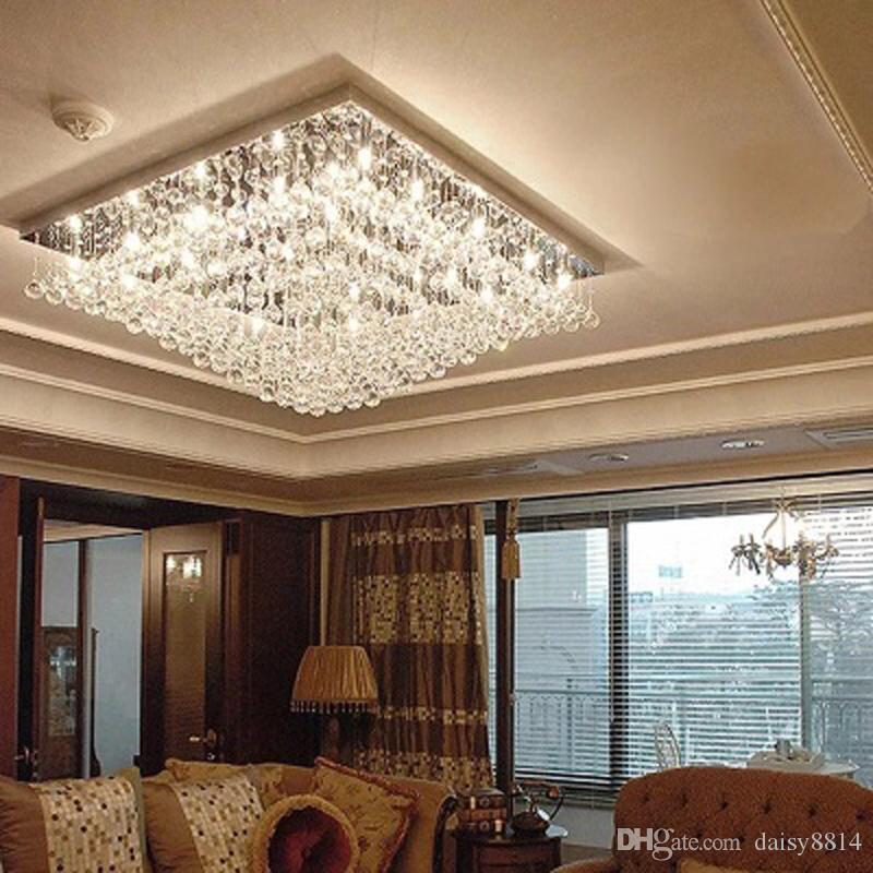 High quality lustre modern chandelier led crystal lamp length 60cm high quality lustre modern chandelier led crystal lamp length 60cm square living room chandelier lighting dining room chandeliers rustic chandeliers from aloadofball Choice Image