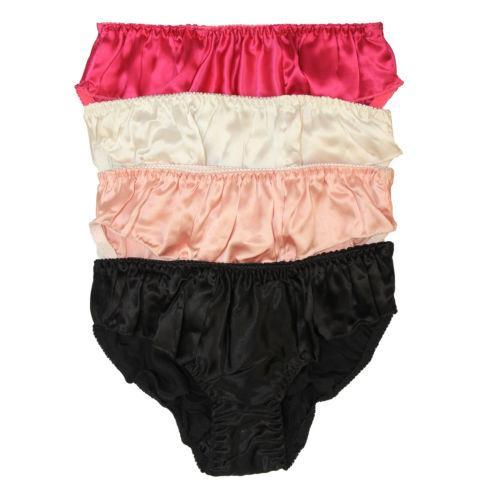 8f32211424 Pure Silk Women s Flouncing Waist Panties Economic Pack Pack of 4 US ...