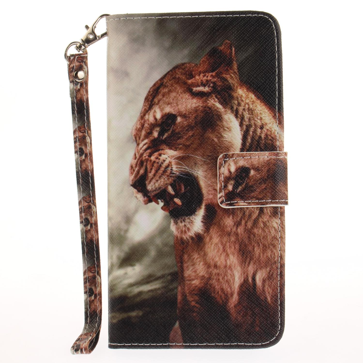 Handy Hüllen Designs Painted Lion King Muster Flip Stand Pu ...