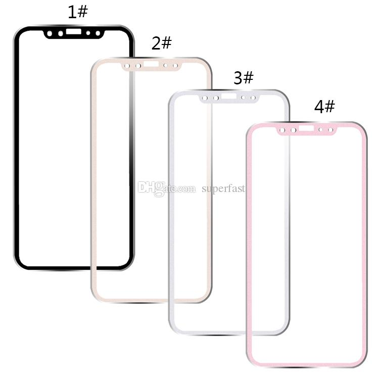 Tempered Glass Full Cover Screen Protector Ultra-Thin 3D Curved Edge Titanium Alloy Design For Iphone XS Max XR 8 With Package