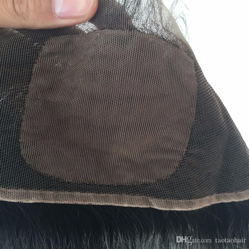 8A Seide Basis Spitze Frontal Schließung seidig gerade brasilianische Haarspitze Frontal Silk Basis Baby Haar