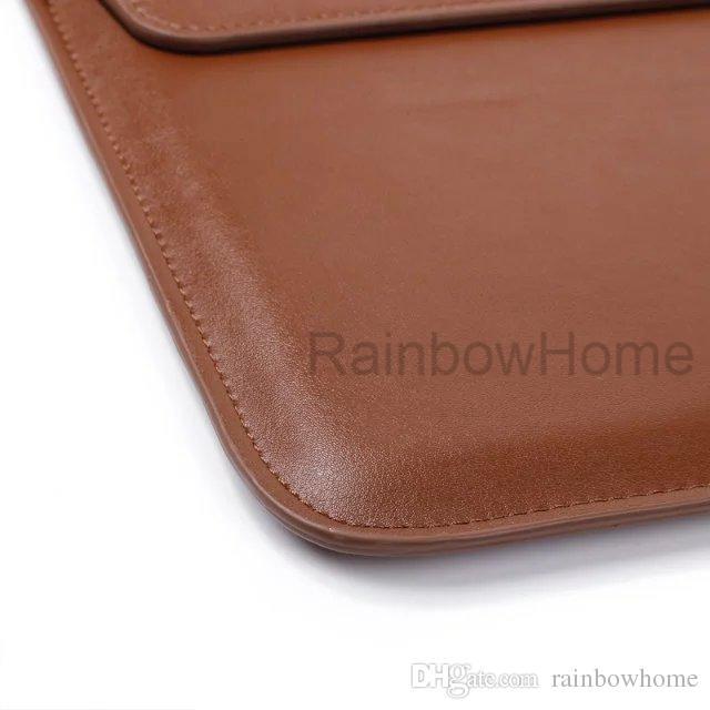 Premium PU Läderfodral Bärväska För Laptop MacBook Air Pro Retina Mjuka Ärm Kuvert Väskor Krokodil Textur