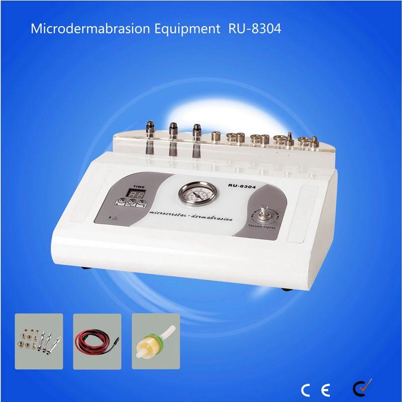 RU8304 máquina de microdermoabrasão diamante com 9 dicas de uso doméstico máquina de beleza 3 em 1 diamante microdermoabrasão máquina de dermoabrasão peeling