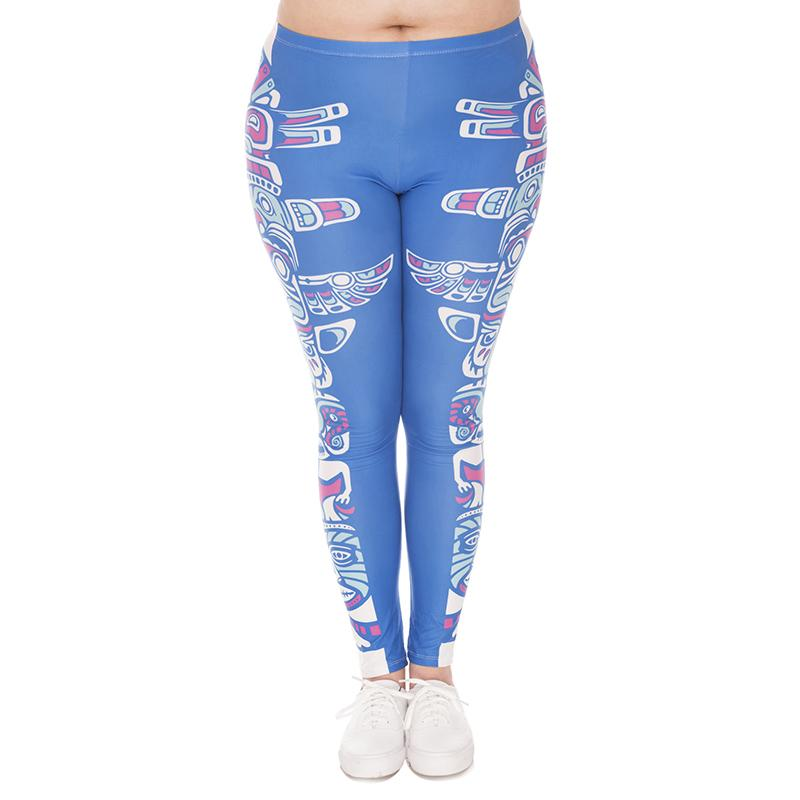 1094fe0c7411 2019 Lady Leggings Totem Blue 3D Print Women Skinny Stretchy Comfortable  Yoga Pants Girl Tight Capris Trousers Plus Size Fits L XL XXL J45761 From  Joybeauty ...