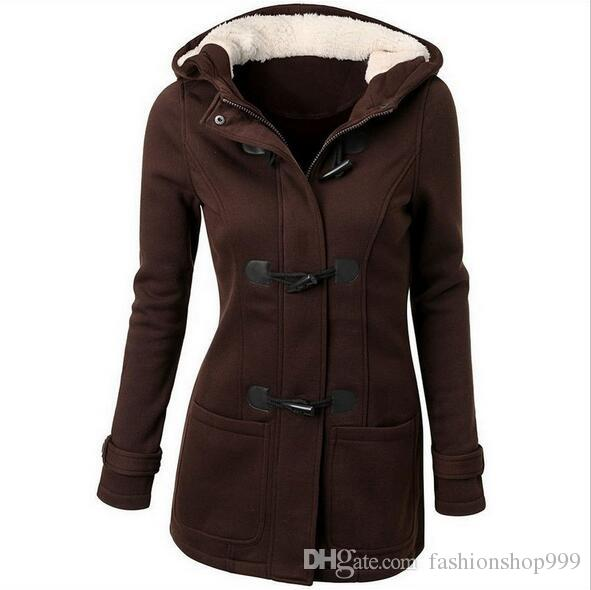 2017 Fashion autumn and winter women's new European and American wool blended coat women's wool hood coat coat