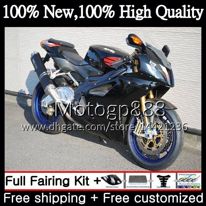Body For Aprilia RSV1000R Stock black Mille RSV1000 RR 03 04 05 06 03 06 2PG16 RSV 1000R 2003 2004 2005 2006 RSV1000RR Fairing Bodywork