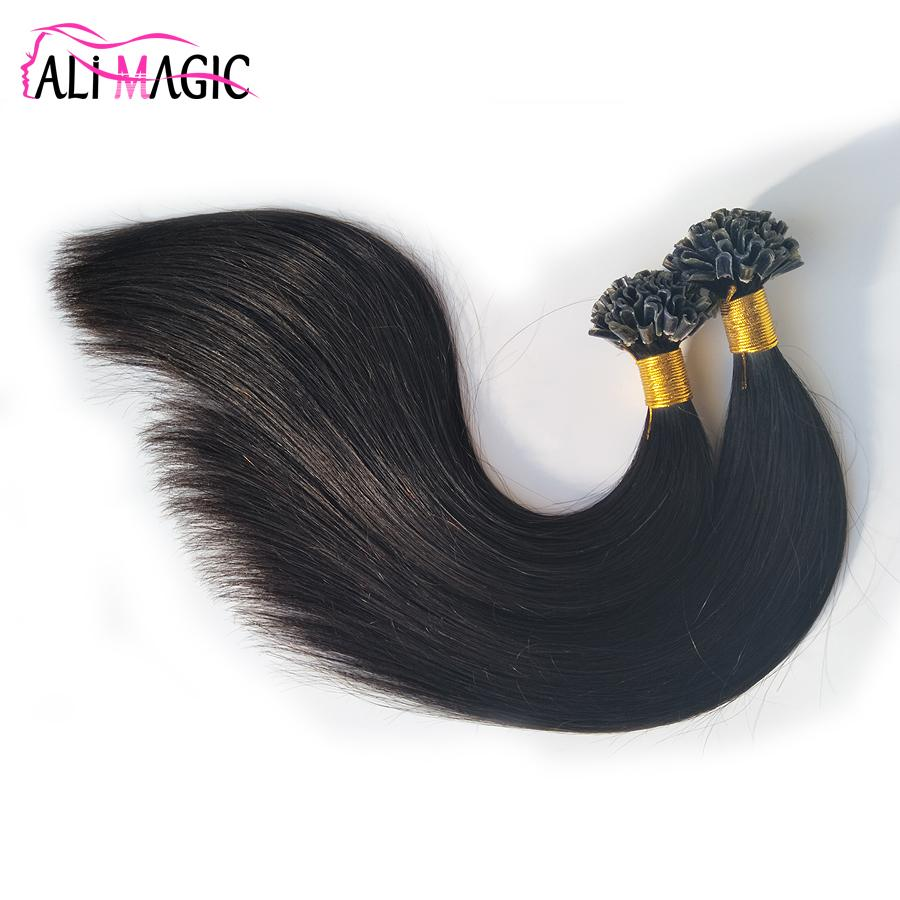 High Quality U Tip Human Hair Extensions U Tipped Hair Natural Color