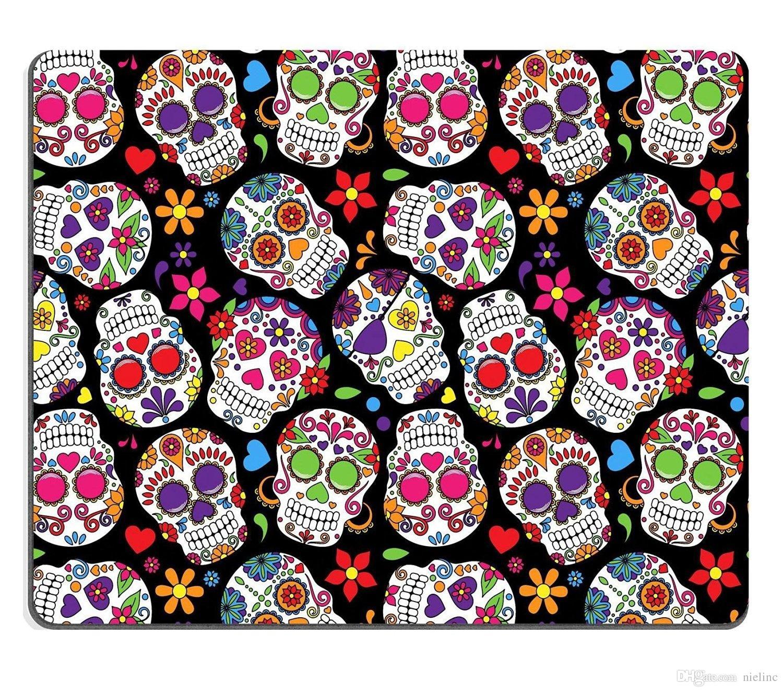 Gaming mousepad day of the dead sugar skull seamless vector background wristrest allsop wrist - Sugar skull background ...