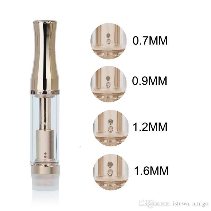 Serbatoio di vetro Glod CPA3 0,5 ml 1ml Dual Coil vaporizzatore 510 cartuccia con denso atomizzatore a olio con punta in metallo