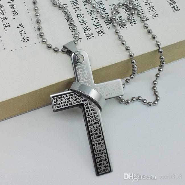 النساء قلادة عالية الجودة رجال مجوهرات سبائك المقدس الصليب قلادة دائرة قلادة قلادة سلسلة غرامة مجوهرات للنساء التبعي