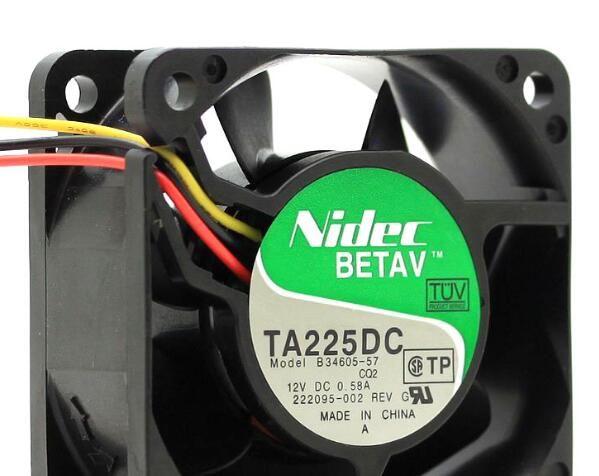 NIDEC 6025 6CM 12V B34605-57 3wire вентилятор охлаждения
