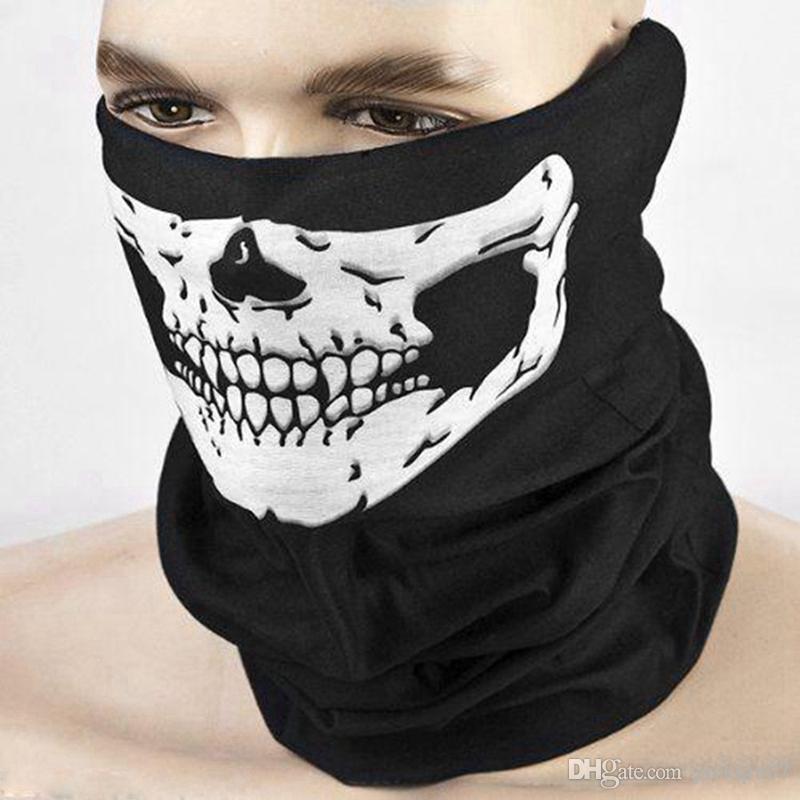 Événement Fête Halloween Masque Effrayant Festival Crâne Masques Squelette Moto Vélo Multi Masques Écharpe Demi Partie Visage Masque Cap Cou Fantôme