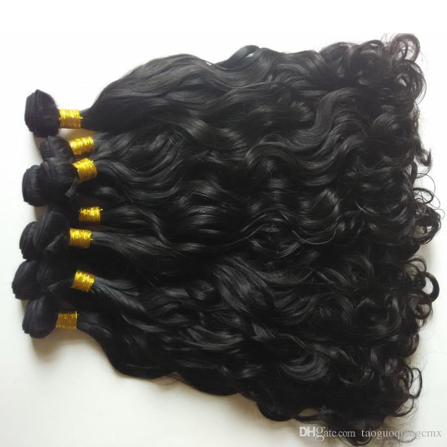 Unprocessed Brazilian Hair Extension Peruvian human hair weft Natural Wave 8-28inch Cheap Factory Wholesale price Indian remy Hair dhgate