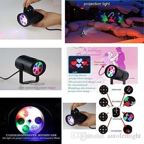 Rotating Rgb Projection Led Lights, Multicolor with Switchable Pattern Lens for Birthday, Holiday, Wedding, Party