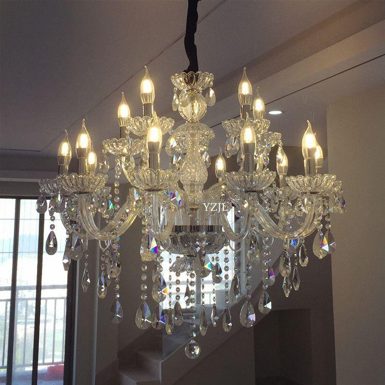 Crystal light lamps chandelier modern minimalist livingroom bedroom diningroom LED simple luxury