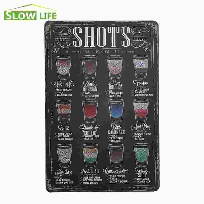 2017 Whiskey Vodka Shots Vintage Home Decor Tin Signs Bar Pub Cafe Wall Decor  Metal Sign Metal Plaque Cool Art Poster Vintage Picture 20170408# From ...