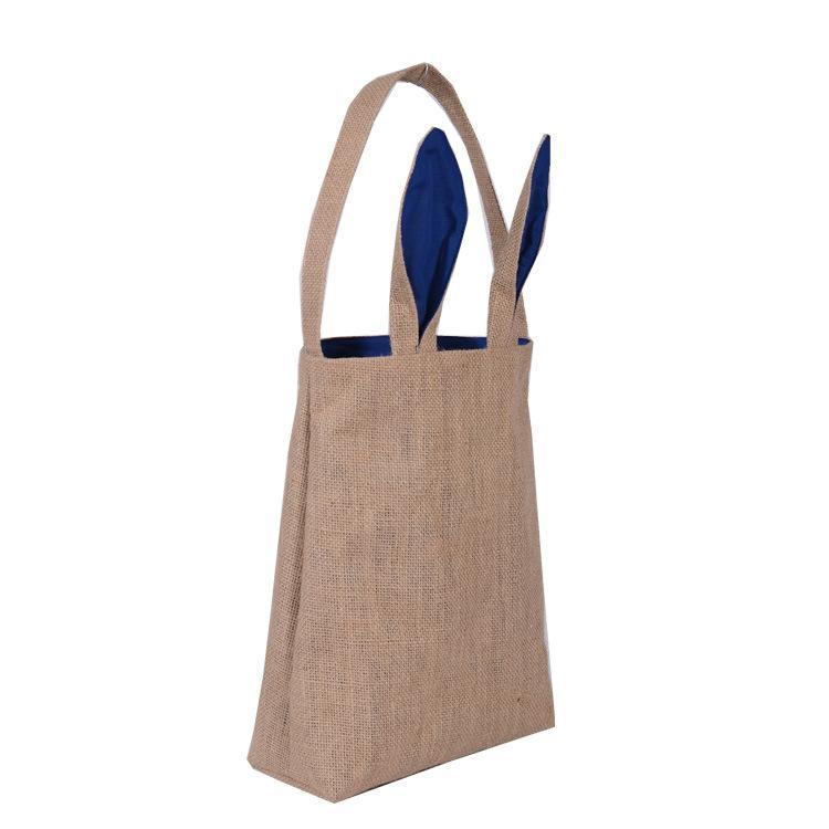 Ostern Tragetasche Hasenohren Baumwolltuch Taschen DIY Leinwand Handtasche Für Kinder Festival Geschenke Tasche Freies DHL 25,5 * 30,5 * 10 cm