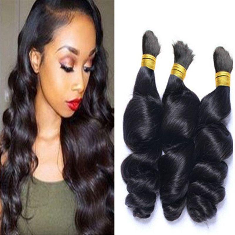 8a Human Loose Wave For Braiding Bulk Hair Brazilian No Weft Loose
