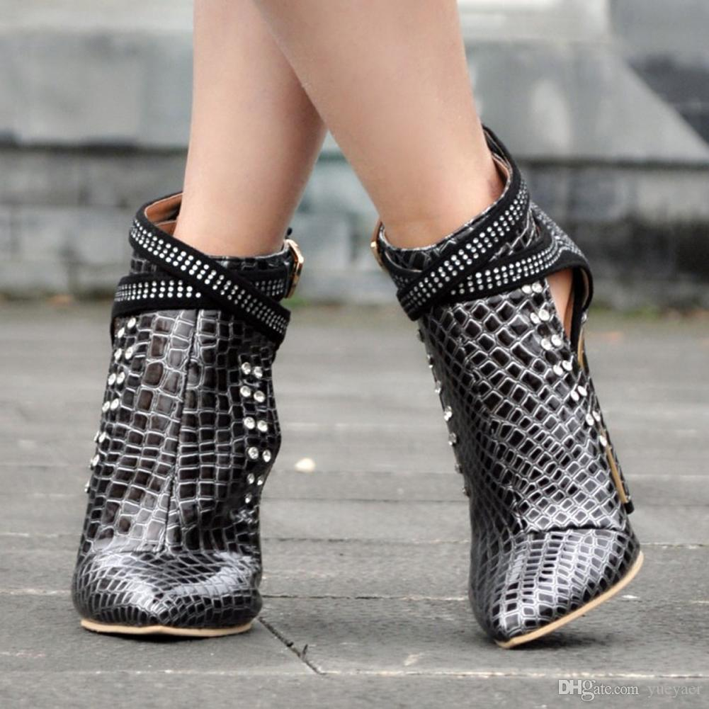 Zandina Womens Fashion Handmade 110mm Spitze Schnalle Metall Schmuck Deco High Heel Stiletto Schuhe XD151