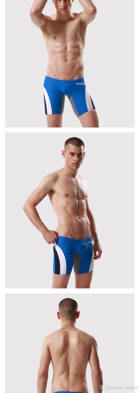 Sexy Uomo Pantaloncini da bagno Bikini Abbigliamento Estate Tronchi Spiaggia Mare Vacanza Pantaloncini Tavola Surf Bikini Lungo Boxer Uomo Sport Colori Patchwork