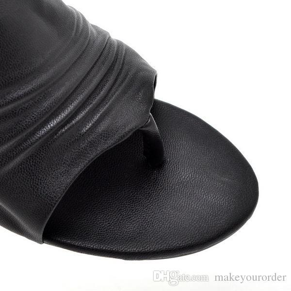 도매업자 무료 배송 공장 가격 핫 판매자 스틸 끈 샌들 하이힐 여성 흰색 검은 구두