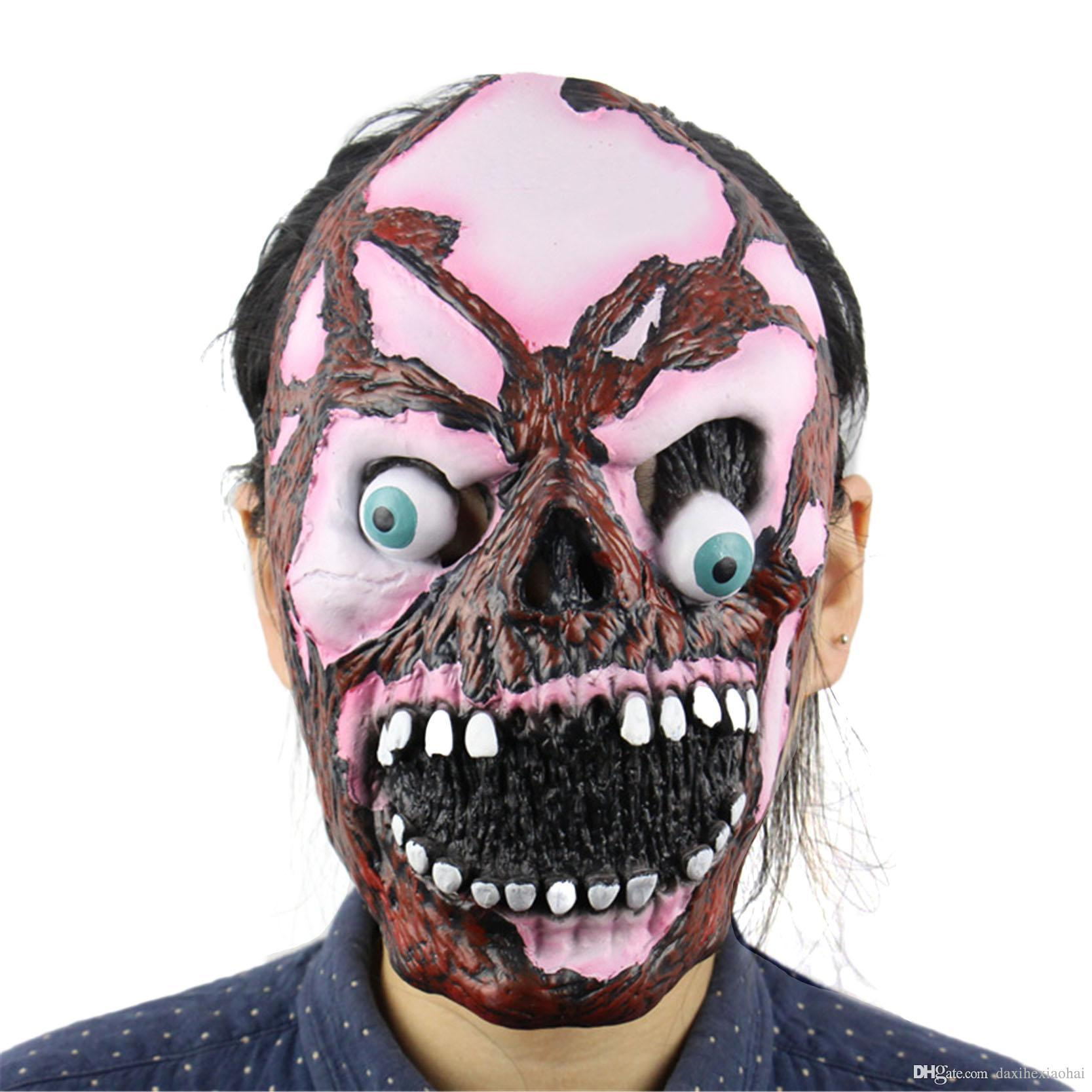 new halloween horror masks blast eye zombie skull adult costume