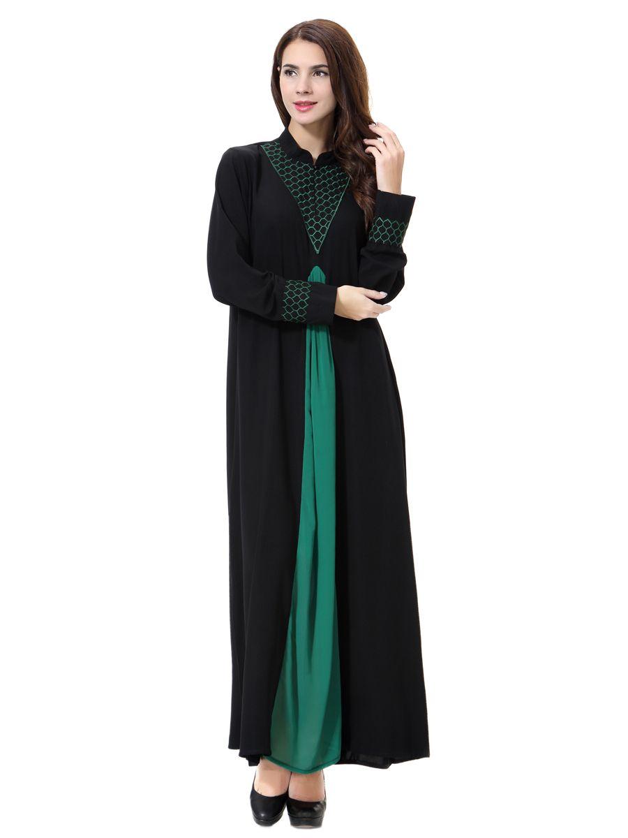 2018 New Arrival Muslim Women Fashion Abaya Embroidery Designs Long ...