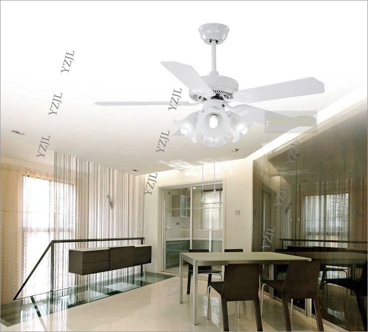 Ceiling fan ceiling lamp Minimalism modern wood leaves bedroom ceiling light Fan with remote control restaurant