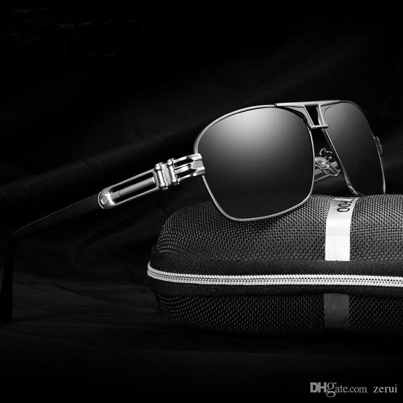 Compre Hd Óculos Polarizados De Alta Grade Moda Óculos De Sol Dos Homens De  Alumínio E Magnésio Condução Aviação Piloto Esportes Ao Ar Livre Uv400  Eyewear ... 6fd0daa2d2