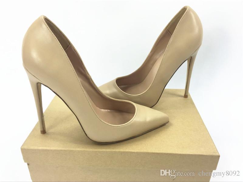 a570b6f46e88 Brand Women Pumps Shoes Red Sole Woman High Heels Pumps Stilettos Shoes  Black Matte Sheepskin Lines Women Wedding Shoes 8cm 10cm 12cm+Box Cheap  Trainers ...