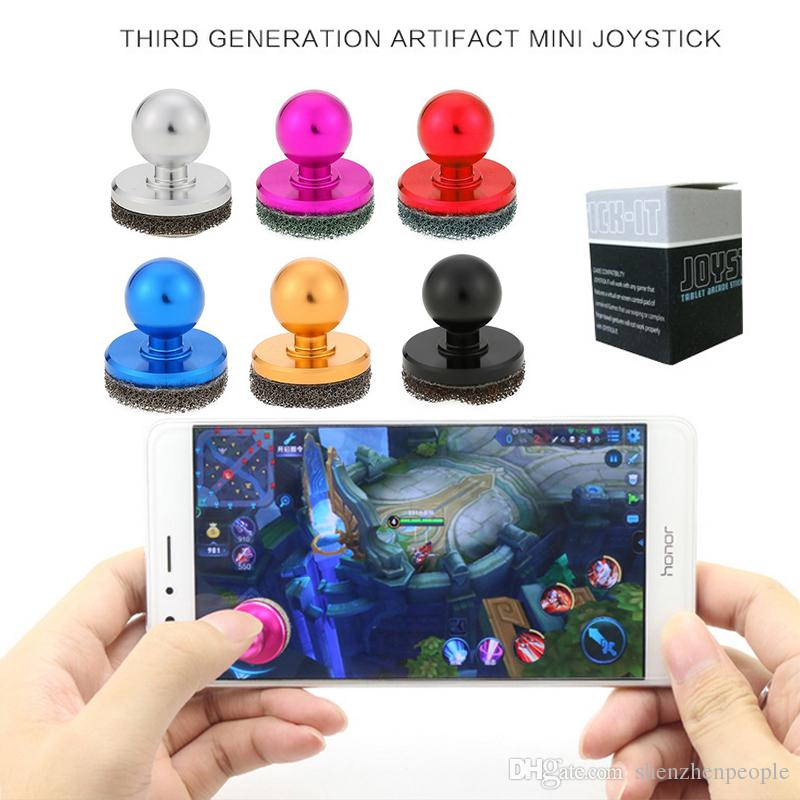 Mini Game Handle Controllers of Cheap Popular 2017 Hot Sale Hydraulic Joystick Control Toy for Mobile Phone Cellphone Games