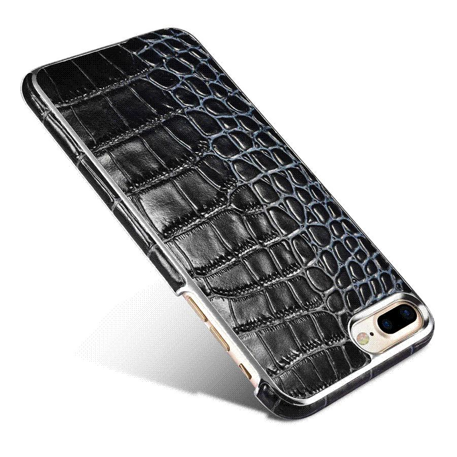 new style 07c51 3f945 Original XOOMZ Luxury Imitation Crocodile Leather Case For Apple iPhone 7/  7 Plus Genuine Leather Cover Shell Mobile Phone Cases